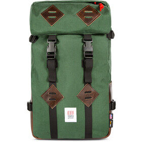 Topo Designs Klettersack Backpack Leather 25l forest/brown leather